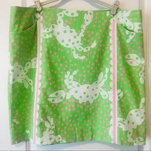 "Lilly Pulitzer ""Roslyn"" Skirt, Not So Crabby 16"